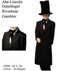 Abe Lincoln Costume Gunslinger or Riverboat Gambler  sc 1 st  Costumes of Nashua LLC & Albert Einstein KitBen Franklin CostumeAbraham LincolnGeorge ...