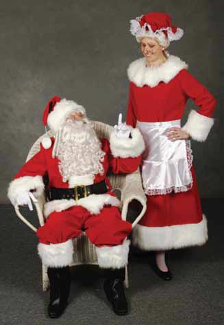 Sunny Claus Microfiber Santa Claus Shorty Suit Size 42-48 Standard