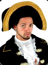 347df07eee2 Napoleon Hat Admiral Hat Deluxe Tricorn Hat