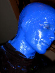 classcic Bons prix mieux aimé Blue Man Group Makeup Kit,Blue Man Group Gloves,Bald Cap,Lip ...