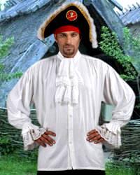 Swordsman RENAISSANCE Pirate Gothic POET Medieval Shirt White M L XL