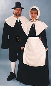 2af125553b6 Deluxe Pilgrim Man   Puritan Lady Costume